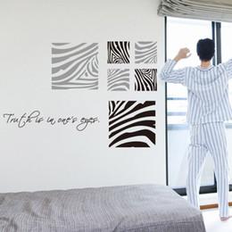 autocollants congelés Promotion Stickers muraux congelés art de la mode décoration de la maison Zebra Pattern Sticker mural Vinyle amovible amovible