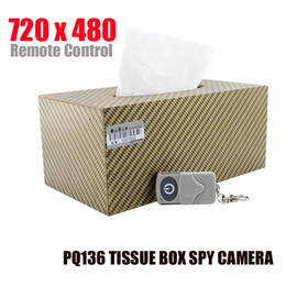 Wholesale Hidden Audio Recorders - 16GB 720 x 480 Tissue Box Camera with Remote Control Convert Tissue Box Hidden Camera Audio and Video Recorder spy Tissue box Camera PQ136