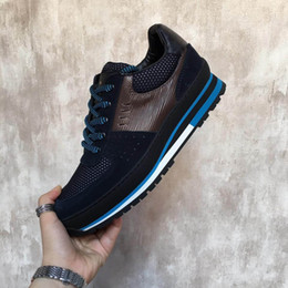 Wholesale Official Brand - luxury Official Designer shoes Leisure sneakers high quality Brand men casual shoe size 38-44 model 199611284