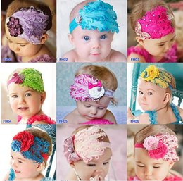 Wholesale Green Feather Hair Comb - Baby Hair Accessories feather baby headband girls' hairbands hairpin Christmas hair tie Headbands Hair Accessories