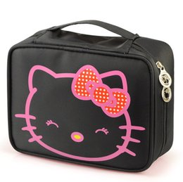 Wholesale High Quality Bag Korea - Kitty Large-capacity Cosmetic Bag Korea Hand-held Waterproof High Quality Travel Toiletry Professional Makeup Case