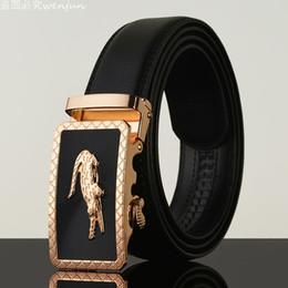 Wholesale Bronze Jeans - Belt 2016 Hot Fashion Cowhide Leather men jeans belt Designer Luxury Famous High quality Automatic buckle men Belts for men
