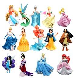 Wholesale Miniature Garden Set - 14pieces   set. Princess flower Pixie Fairies miniature figurine of a puppet garden ornament Decoration figurines boy girl gift