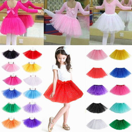 Wholesale White Chiffon Dance Skirt - Kids Girls Clothes Dress Girls Breathtaking Ballet Tutu Princess Dress Up Dance Wear Costume Party Skirt