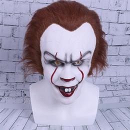 Argentina 2017 Película Stephen King's It Cosplay Máscara Penny sabio Payaso Casco Halloween y fiesta de Navidad Máscara Props cheap clown latex Suministro