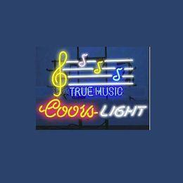 "Wholesale Coors Beer Advertising - Wholesale-New T54 COORS LIGHT TRUE MUSIC beer bar neon signs 17""x14"" for indoor  outdoor display party lights advertising art.."
