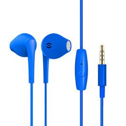 auricular micrófono micrófono Rebajas IH900 3.5mm Auriculares con cable Gemelos Auriculares Auriculares Estéreo de Colores En el Oído Línea Bass Control de Volumen Mic para iPhone Samsung EAR270
