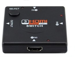Wholesale Pc Audio Splitter - HDMI Switch 3*1 ,3 to 1 1080P HDMI 1.3 switcher Splitter Box Audio Switch for DVD ,PC,PS3