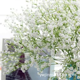 Wholesale Artificial Flowers Gypsophila - Factory outlets Gypsophila Baby's Breath Super simulation Artificial flower PU material Plant Home Wedding Decoration 80 buds