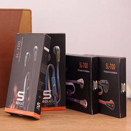 Wholesale Earbuds Sms - New!!! SL700 In-Ear Music Headphone SMS Audio Headset With Mic & Retail Box for Cell Phone Earphone Universal Earbuds