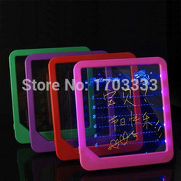 Wholesale Messages Panel - 100pcs Wholesale LED message board led display handwritten fluorescence plate with a highlighter Kids Painting Writing Panel