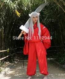 Wholesale Inuyasha Cosplay Costumes - Wholesale-Anime Surrounding the game inuyasha Anime costume for cosplay costumes Size S M L XL top quality Free shipping