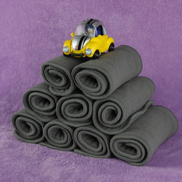 Wholesale Nappy Charcoal Insert - Wholesales Hot Selling 4 Layers Bamboo Charcoal Inserts Cloth Diaper For Baby Washable Reuseable Baby Diapers VT0077 Kevinstyle