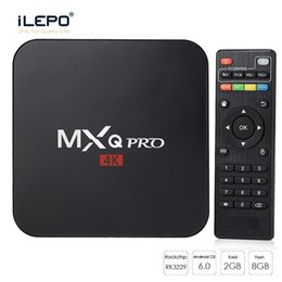 Wholesale Player Full Hd - 2G8G MXQ Pro Android TV Box RK3229 Rockchip Android6.0 Smart TV Box Fully Loaded RKMC 17.4 Streaming Media Player