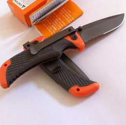 Wholesale Scout Knife Camping - Compact Scout Folding Knife Serrated Camping Survival Pocket Knife 7Cr17mov Blade Rubber Handle 19CM Medium Size