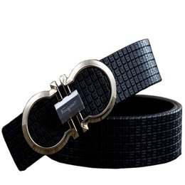 New Unisex Gold Plated Buckle Belt