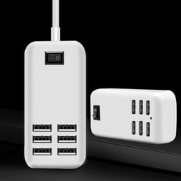 Wholesale Hub Usb Extension - Desktop USB Charger HUB 6 Ports US EU UK Plug Wall Socket Dock Fast Charging Extension Power Adapter for Cell Phone Tablet