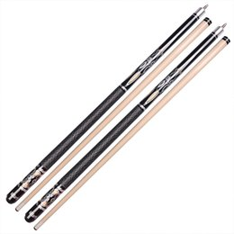 Wholesale Cues Sticks - Nine Clubs Cue Stick Fancy Rod Double Section Rod Big Head Rod American 1 2 Split Cue Fitness Equipment Chess Entertainment Hot