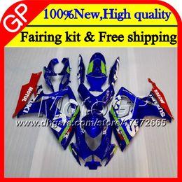 Wholesale Suzuki Gsxr Fairing K6 - Body For SUZUKI GSX R600 K6 GSX-R750 GSXR 600 06 07 25GP9 Glossy blue GSX-R600 GSXR750 06 07 GSXR 750 GSXR600 2006 2007 Motorcycle Fairing
