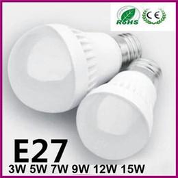 Wholesale E14 Globe Ball - Led Globe Lamp Bulb E27 E14 B22 3W 5W 7W 9W 12W15W Led Ball Lamps AC85-265V Warm Cold White Super Bright Lighting Led Bulbs for Home