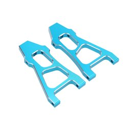 Wholesale Arm Robots - 188019 1 10 Upgrade Parts Blue Aluminum Front Lower Suspension Arm for HSP 94188 RC Car order<$18no track