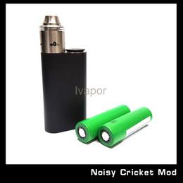 Wholesale Hybrid Mods - 100% Original Wismec Noisy Cricket Mod SMPL Style Button Hybrid Adaptor Bottom 18650 Box Mod For Indestructible RDA Atomizer Free Shipping