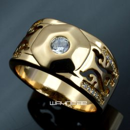 Wholesale brass coupling - Anniversary Size 8-15 Jewelry Luxury Gold Filled Wedding Rings For Men R285