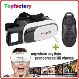 """Wholesale Wholesale Cardboard Shipping Boxes - Professional Google Cardboard 3D VR Glasses for 3.5"""" - 6.0"""" Smart Phone Head Mount VR BOX with Bluetooth Controller DHL free shipping"""
