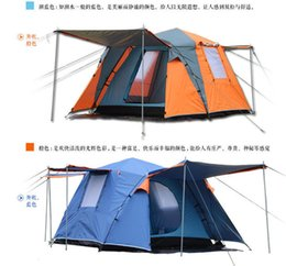Wholesale Beach Camel - Wholesale- Camel 2 door 3-4 person fully-automatic hiking travel base family parly waterproof travel fishing beach outdoor camping tent