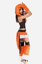 Wholesale Fox Games - Wholesale-new fashion Sexy adult Halloween Women Fox Lady Costume cosplay fox animal costume Sexy Bunny costumes or Cat Costumes