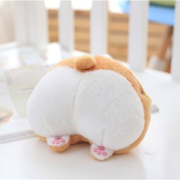 Wholesale Sexy Kid Dolls - Cute Corgi Sexy Bottom Coin Bag Stuffed Plush Toy Soft Kawaii Purse Stuffed Animals Wallet for Girls Kids Doll Toys Gift