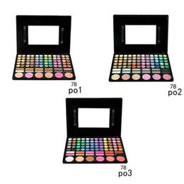 Wholesale Christmas Eyeshadow Palette - Eye Shadow 78 Colors Eyeshadow Palette Earth Color Lady Nude Eyeshadow Palette Eye Shadow Makeup Powder Palette 0605030