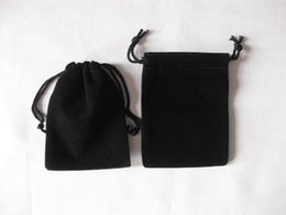 Wholesale Wholesale Black Velvet Fabric - Hot sell ! lot of 100pcs Black 7*9cm Long Square Shape Jewelry Pouches Velvet Gift Bags Wedding Favors