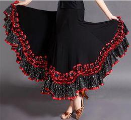 Wholesale Ballroom Skirt Long - moden dance skirt with a full-length skirt and a national dance ballroom long elegant dance waltz