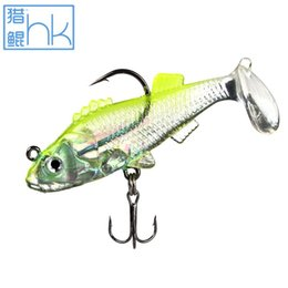 Wholesale Led Fishing Lure Jig Light - Transparent light green back Fishing Lure Soft Lure 5pc lot Luminous soft bait 8g perch pesca Lead pack fish fishing tackle
