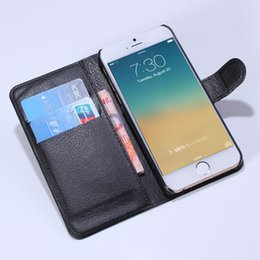 Wholesale Leather Id Flip Case - For iphone 6 6s 4.7 Litchi Leather Wallet ID Credit Card Holder Stand Flip Case Cover 9 colors choose