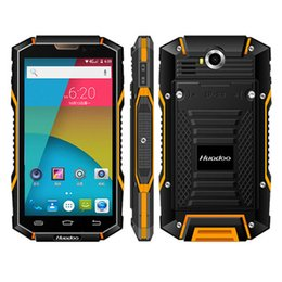 Wholesale Android 5inch Gps - Original Huadoo HG06 MTK6735 64bit Quad Core 5Inch Dual SIM full frequency 4G LTE IP68 Rugged Waterproof Smartphone 6000mah Android 5.1 NFC