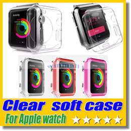 Wholesale Silicone Watch Covers - 6 color Case For Apple Watch Crystal Transparent Clear 0.3mm TPU Silicone Soft Cover For Apple Watch 38mm 42mm iwatch