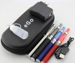 Wholesale Double Ecigarette - eGo CE4 Double Starter kit 2 CE4 atomizer battery 1100mah in ecigarette zipper case from china ego Electronic Cigarette smoking