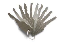 Wholesale Door Picks - Free Shipping !! door hardware sport Locksmith Tool 10 pieces keys Pin Tumbler Lock Jigglers SYG-055