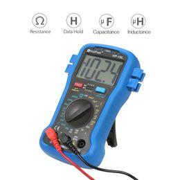 Wholesale Digital Multimeter Capacitance Inductance - kkmoon LCD Digital LCR Meter Multimeter Resistance Capacitance Inductance Transistor hFE Test capacimetro Tester + Wrist Strap
