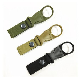 Wholesale Clip Backpack - Hot Sale New Outdoor military Nylon Webbing Buckle Hook Water Bottle Holder Clip EDC Climb Carabiner Belt Backpack Hanger Camp