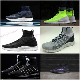 Wholesale Green Volts - 2017 Free Mercurial Superfly SP Dark Obsidian HTM Volt 5.0 in fly line help Black Men Running Shoes Boots Men Sneakers size Eur 36-45