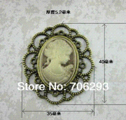 Wholesale Hair Bronze Diy - Imitation bronze alloy parts with beautiful head retro DIY hair accessories pearl houaphan buckle Brooches accessories material