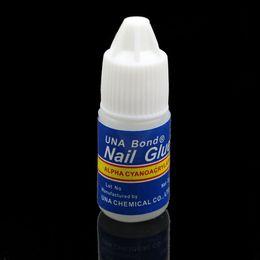 cola de unha para acrílico Desconto 20 Pcsx 3g Acrílico Nail Art Beleza Cola Falso Dicas Manicure unhas cuidados cola adesivo unha