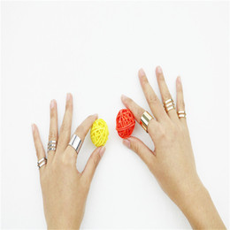 Wholesale Open Top Finger Rings - Wholesale-wholesale women 3Pcs Set Fashion Trendy Top Of Finger Over The Midi Tip Finger Above The Knuckle Open Ring Fashion Jewelry R0001