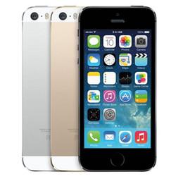 2019 toque desbloqueado gps wifi A Apple iPhone 5S telefones celulares Desbloqueado iOS 6 ID de toque 4.0 16G / 32G / 64G ROM Dual core Câmera GPS WiFi 8MP GPRS 3G LTE Fingerprint toque desbloqueado gps wifi barato