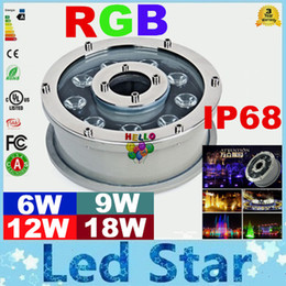 Wholesale Pool Led Light Underwater - 6W 9W 12W 18W RGB Led pool Light Free Shipping AC 12V 24V Underwater Lights Fountains Led Waterproof IP68