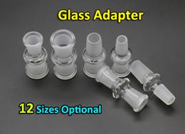 2019 einzigartige tropfflaschen Glasadapter 12 Stile 10mm 14mm 18mm weiblich zu weiblich, weiblich zu männlich, männlich zu männlich Glasadapter für berauschende Glasbongs