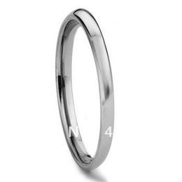 Wholesale Tungsten Rings Wholesalers Usa - Wholesale-Free Shipping Cheap Price USA Russia Brazil Hot Sales 2MM Plain Dome Women& Mens Tungsten Carbide Wedding Ring US size 4-12